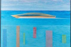 «Un bateau d'or en face de la marina»