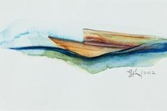 Paquebot dans un océan agité. 2012