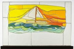 «Escapade! Une barque à voile par une belle journée sur l'océan.» 2016.